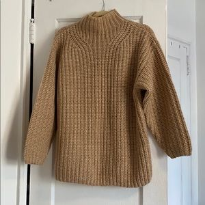 &other stories beige sweater